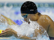 Japan`s Satomi Suzuki swims during her women`s 200-meter breaststroke semifinal at the Aquatics Centre in the Olympic Park during the 2012 Summer Olympics in London.