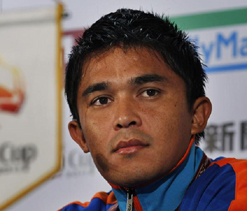 Chhetri to lead India in Nehru Cup football tournament