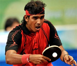 Sharath Kamal in Asian team