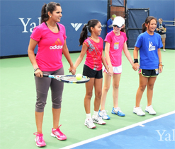 Sania Mirza hosts kids in Yale