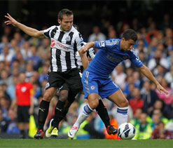 EPL 2012: Chelsea defeat Newcastle 2-0