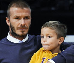 David Beckham`s sons inspired by Olympics