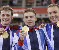 London Olympics cycling: Britain take men`s sprint gold
