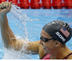 Olympic swimming: Soni wins 200m breaststroke with world record