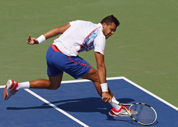US Open: No. 5 seed Tsonga upset in 2nd round