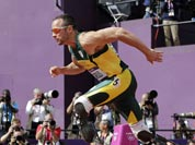 South Africa`s Oscar Pistorius starts in a men`s 400-meter heat during the athletics in the Olympic Stadium at the 2012 Summer Olympics.