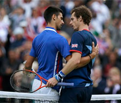 London Olympics tennis: Andy Murray defeats Djokovic, to face Federer in final