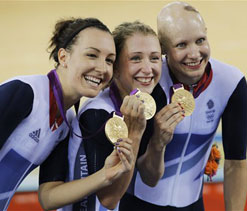 Olympics 2012 cycling: Britain takes gold in women`s team pursuit