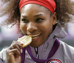 Olympics 2012 tennis: Williams destroys Sharapova to win gold
