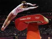 US gymnast McKayla Maroney performs during the artistic gymnastics women`s vault finals at the 2012 Summer Olympics.