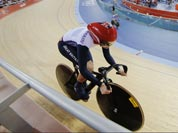Britain`s Victoria Pendleton competes in the track cycling women`s sprint during the 2012 Summer Olympics in London.