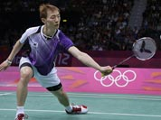 Korea`s Lee Hyun-il plays against China`s Chen Long at the men`s singles badminton bronze medal match of the 2012 Summer Olympics.