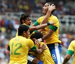 London Olympics 2012 Football: Clinical Brazil avoid Honduras upset