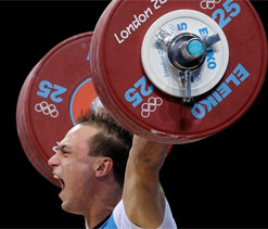 London Olympics Weightlifting: Ilyin of Kazakhstan defends weightlifting gold