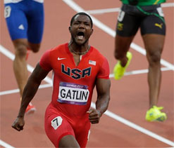 London 2012 Olympics: Tears flow for Gatlin and Gay after 100 final