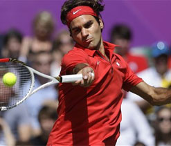London Olympic tennis: Federer content with silver medal
