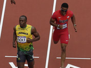 Jamaica`s Usain Bolt wins his heat during the first found of the men`s 200-meter at athletics in the Olympic Stadium at the 2012 Summer Olympics, London.