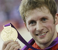 Olympic GB cycling: Kenny sprints to gold