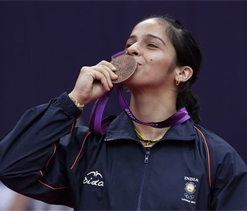 Olympic bronze medallist Saina Nehwal returns to rousing welcome