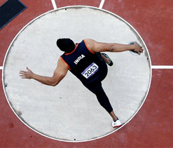2012 Olympics, Day 11: Vikas Gowda in action