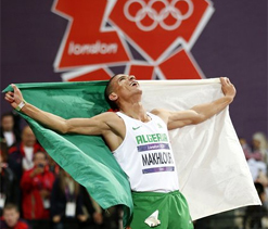 Olympic: Algeria`s Makhloufi kicks to gold in 1,500m