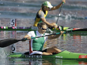 Hungary`s Danula Kozak paddles on her way to winning the gold medal in the women`s kayak single 500m in Eton Dorney, near Windsor, England, at the 2012 Summer Olympics.