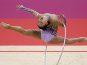 South Korea`s Son Yeon-jae performs during the rhythmic gymnastics individual all-around qualifications at at the 2012 Summer Olympics, in London.
