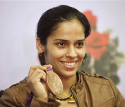 Saina rises to World No.4