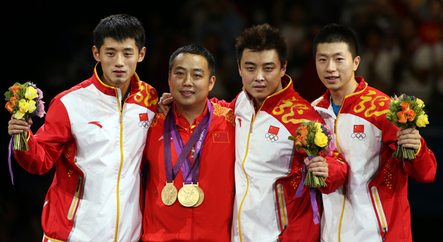 Olympic table tennis: China wins men`s team gold