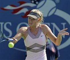 Maria Sharapova in round four of US Open