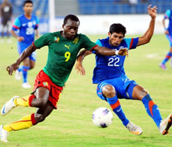 Cameroon test awaits holders India in Nehru Cup final