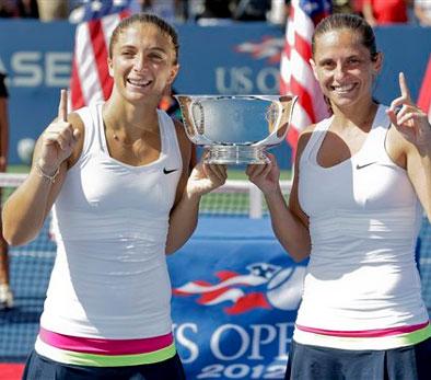 US Open: Errani-Vinci win women`s doubles title