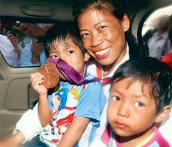 Mary Kom wants her twins to be shooters