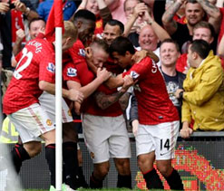 EPL : Manchester United beat Wigan Athletic 4-0
