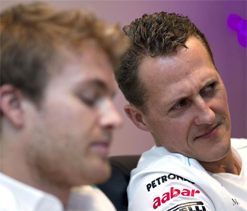 Rosberg confident Schumacher will get boot if Hamilton takes up Mercedes offer