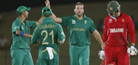 ICC World T20: South Africa rout Zimbabwe by 10 wickets