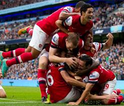 Arsenal hold Manchester City 1-1 at Etihad