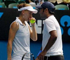 Paes in quarters of both men`s doubles, mixed doubles