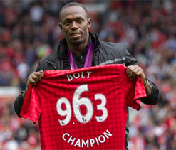 Usain Bolt's dream of playing for Manchester United set to come true