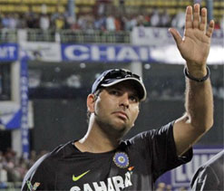 Yuvi`s comeback steals spotlight amid rains