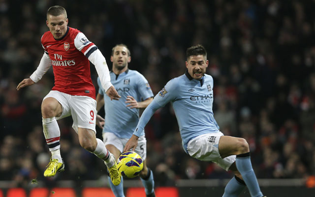 Manchester City beat Arsenal 2-0 as both see red