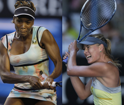 Australian Open: Sharapova, Venus to face-off in Round 3