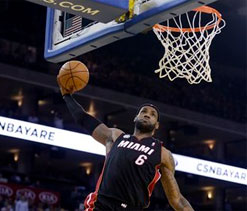 LeBron scores 39 points to lead Heat`s victory