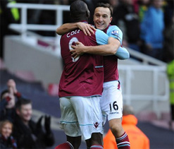 West Ham 2-1 Norwich City: Noble & O`Brien secure Hammers` first win in five
