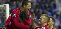 Van Persie fires twice as Manchester United defeat Wigan 4-0