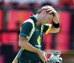 Sprained ankle leaves Michael Clarke doubtful for final Lanka ODI