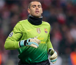 Victor Valdes is the best goalkeeper in the world: Andres Iniesta