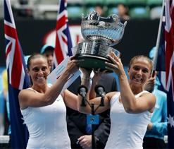 Errani, Vinci clinch maiden Australian Open women`s doubles title