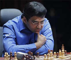 Anand held by Yifan Hou; slips to third spot