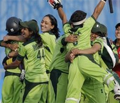 Pakistan`s women cricketers practice amid tight security